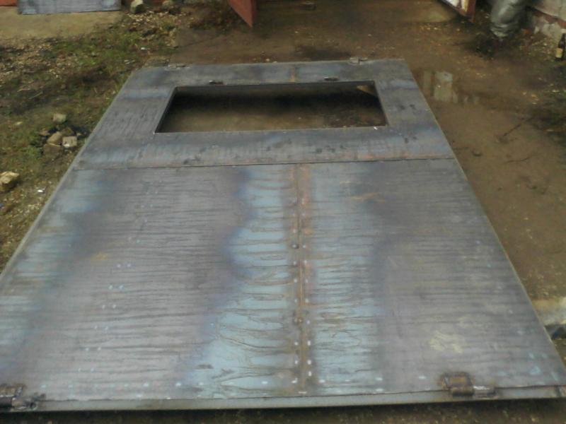 Гаражные ворота с уголка